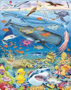Whale Reef 66 Piece Children's Jigsaw Puzzle