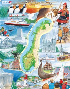 Norway Attractions Children's Educational  70 Piece Jigsaw Puzzle