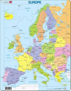 Europe Map Children's Educational 37 Piece Jigsaw Puzzle