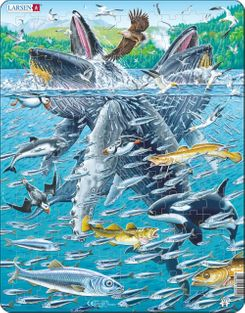 Humpback Whales 140 Piece Children's Educational Jigsaw Puzzle