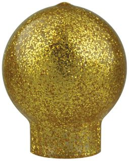 "Vinyl Slip Fit Ball Flag Ornament for 1 3/8"" Pole - 3 1/4"" - Gold"