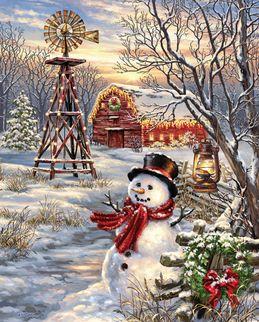 Winter Windmill 1000 Jigsaw