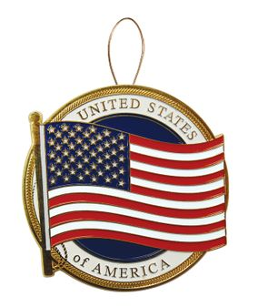 U.S. Flag Christmas Tree Ornament
