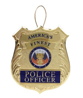 Police Christmas Tree Ornament