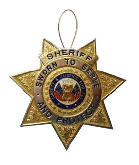 Sheriff Christmas Tree Ornament