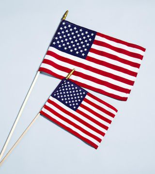 "4"" x 6"" American Stick Flag - Cotton Hemmed U.S. Stick Flag"