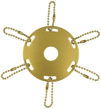 Metal Award Ribbon Flag Pole Ring Ornament - Gold Finish