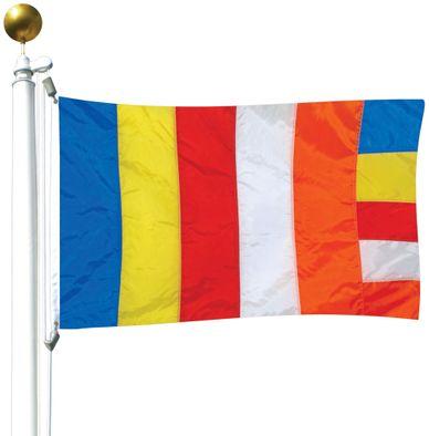 Buddhist Flag - 3' x 5' - Nylon