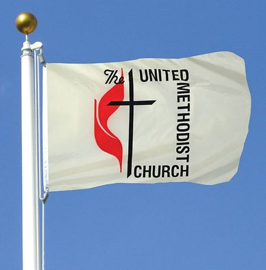 United Methodist Flag w/ Grommets - 3' x 5' - Nylon