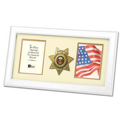 8X16 WHT SHERIFF FRAME
