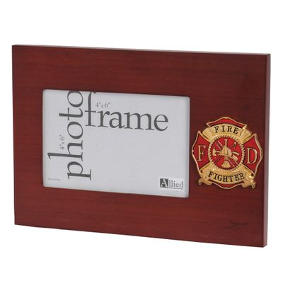 Firefighter Medallion 4-Inch by 6-Inch Desktop Picture Frame