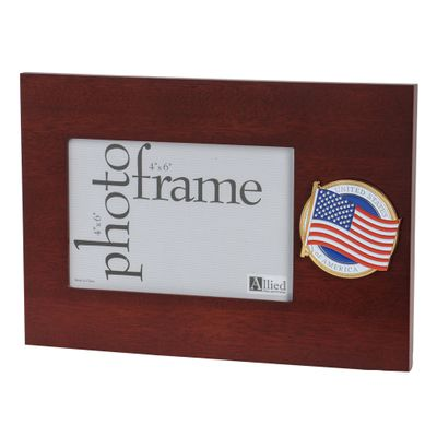 American Flag Medallion 4-Inch by 6-Inch Desktop Picture Frame