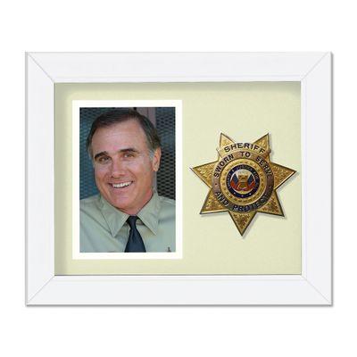 8X10 WHT VRT SHERIFF FRAME