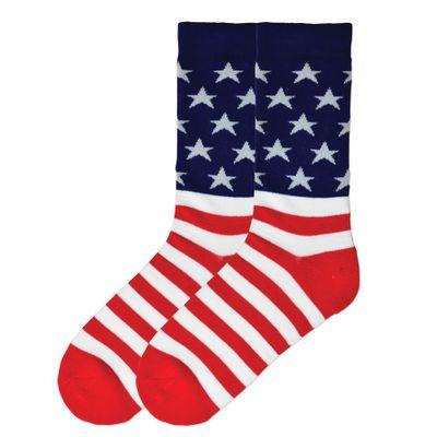 Men's American Flag Socks - Cotton Blend