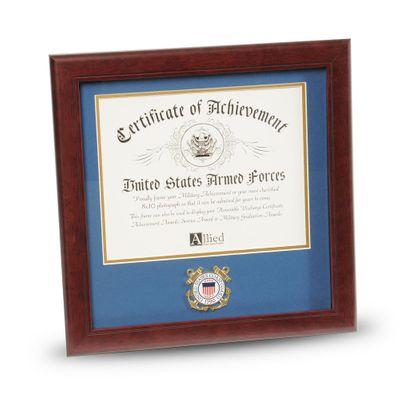 U.S. Coast Guard Medallion 8-Inch by 10-Inch Certificate Frame