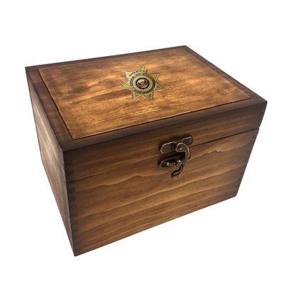 Sheriff Medallion Keepsake Box
