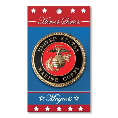 "Heroes Series Marine Corps Medallion Large Magnet - 3 Diameter"""