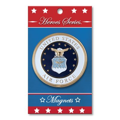 Heroes Series Air Force Medallion Small Magnet - 2.5 Diameter""