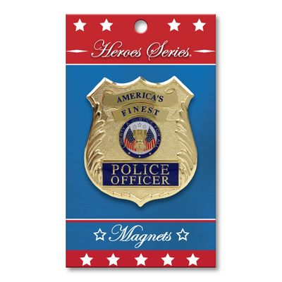 Heroes Series Police Medallion Small Magnet - 2.5 Diameter""
