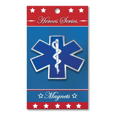 Heroes Series EMS Medallion Small Magnet - 2.25 Inches