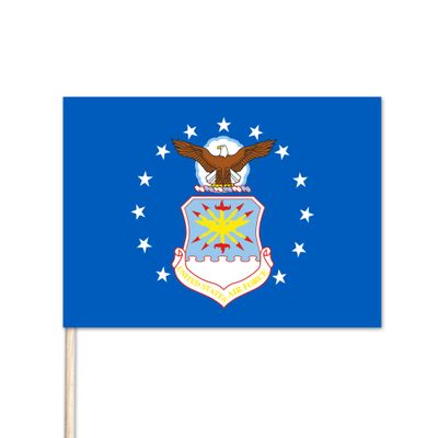 "U.S. Air Force Stick Flag - 12"" x 18"" - E-Polyester"