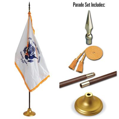 U.S. Coast Guard 3 x 5 Indoor Display and Parade Flag Set