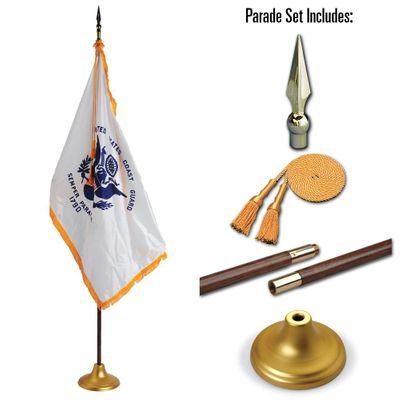 U.S. Coast Guard 4 x 6 Indoor Display and Parade Flag Set