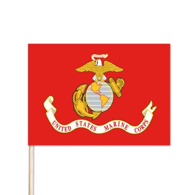 "U.S. Marine Stick Flag - 12"" x 18"" - E-Polyester - 144 Minimum Order"
