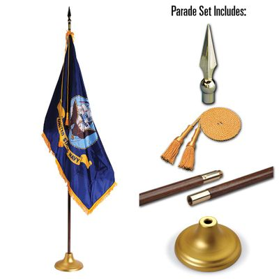 U.S. Navy 4 x 6 Indoor Display and Parade Flag Set