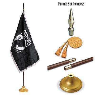 POW MIA 4 x 6 Indoor Display and Parade Flag Set