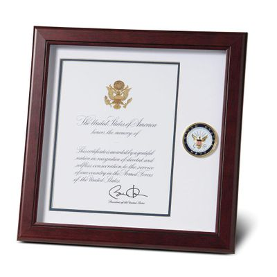 U.S. Navy Medallion 8-Inch by 10-Inch Presidential Memorial Certificate Frame