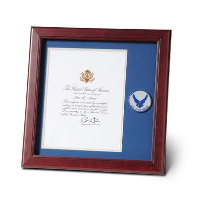 Aim High Air Force Medallion 8-Inch by 10-Inch Presidential Memorial Certificate Frame