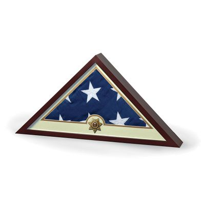 Sheriff Flag Display Case With Flag