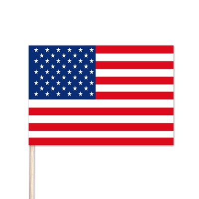 "U.S. Stick Flag No Fray - 6"" x 9"" - Cotton"