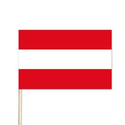 """Austria World Stick Flag - 8"""" x 12"""" - Endura-Gloss Cotton"""