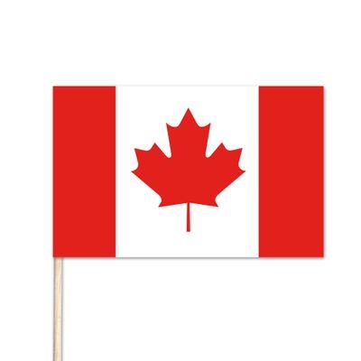 "Canada World Stick Flag - 8"" x 12"" - Endura-Gloss Cotton"