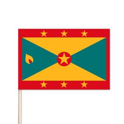 "Grenada World Stick Flag - 4"" x 6"" - Cotton"
