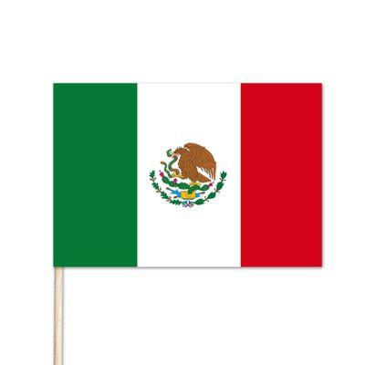 "Mexico World Stick Flag - 4"" x 6"""
