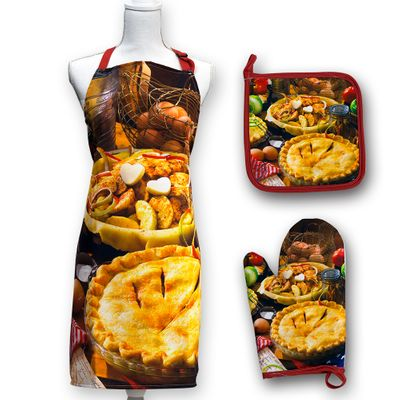 Apple Pie Apron Set