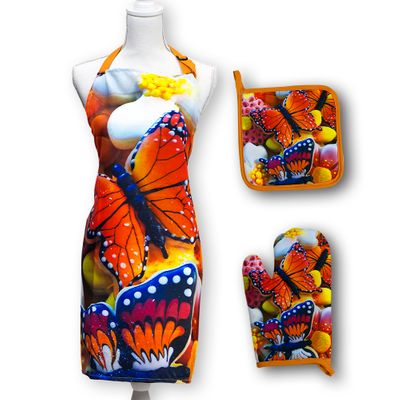 Butterfly Cookies Apron Set