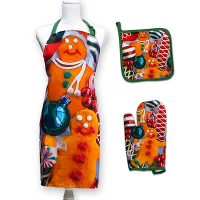 Gingerbread Cookies Apron Set