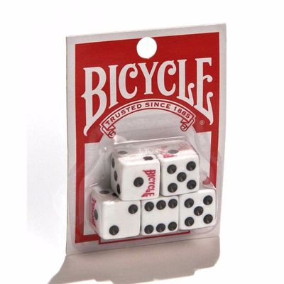 Bicycle 5 Pack of Dice Playing Cards Accessory