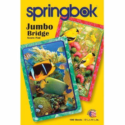 Goldfinch Jumbo Print Playing Card Score Pad 100 Sheets
