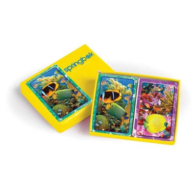 Aquatic Collection Bridge Playing Cards Jumbo Print Index Playing Cards