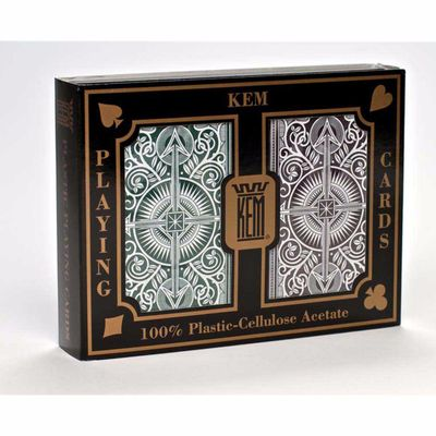 Kem Arrow Narrow Standard Index Playing Cards Green and Brown Decks