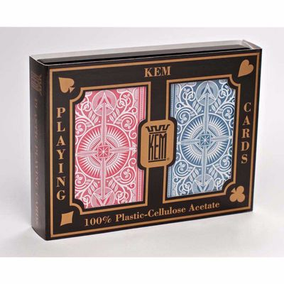 Kem Arrow Narrow Standard Index Playing Cards Red and Blue Decks