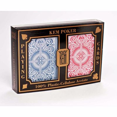 Kem Arrow Wide Standard Index Playing Cards Blue and Red Decks
