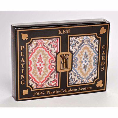 Kem Paisley Narrow Jumbo Print Index Playing Cards