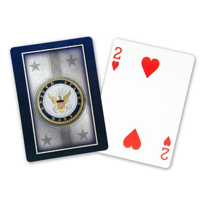 Navy Standard Index Playing Card Set