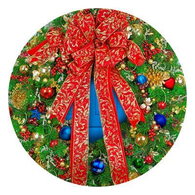 Holiday Wreath 500 Piece Round Jigsaw Puzzle